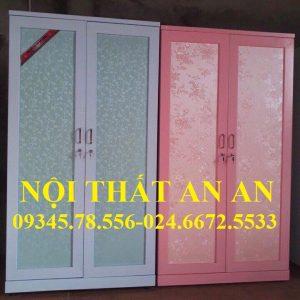 Tủ quần áo LẮP RÁP cao cấp 2 buồng màu xanh, Nội thất An An – MSP: TCCAA24