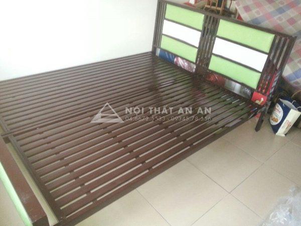 Giường sắt hộp An An- Giường đôi cao cấp giá rẻ Hà Nội rộng 1m8x2m-MSP: GSHAA25