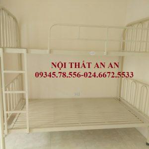 Giường tầng An An- Giường tầng sắt giá rẻ Hà Nội hai tầng rộng 1m2-MSP: GSTAA24