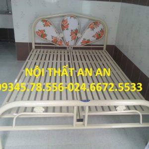 Giường sắt An An- Giường ngủ đôi rộng 1m4x2m-MSP: GSAA16