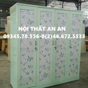 Tủ đựng quần áo bằng sắt THÁO LẮP cao cấp 4 buồng , Nội thất An An – MSP: TCCAA37